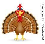 turkey bird illustration...   Shutterstock . vector #1179752941