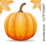 pumpkin thanksgiving... | Shutterstock . vector #1179753007