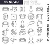 car service line icons set | Shutterstock .eps vector #1179755671