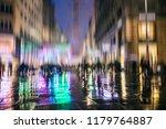 silhouette of people walking on ...   Shutterstock . vector #1179764887