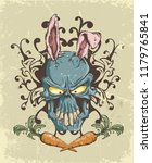 the skull of a hare with ears... | Shutterstock .eps vector #1179765841