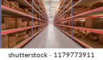 view of a warehouse goods stock ... | Shutterstock . vector #1179773911