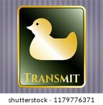 shiny badge with rubber duck... | Shutterstock .eps vector #1179776371