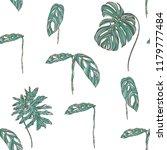 tropical leaves on white... | Shutterstock .eps vector #1179777484