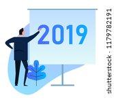 2019 businessman standing doing ...   Shutterstock .eps vector #1179782191