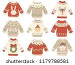 cute christmas jumper. xmas... | Shutterstock .eps vector #1179788581
