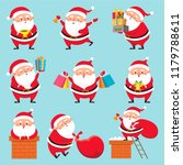 cartoon santa character.... | Shutterstock .eps vector #1179788611