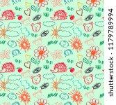 cute stylish seamless pattern.... | Shutterstock .eps vector #1179789994