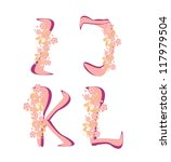 vector spring alphabet with... | Shutterstock .eps vector #117979504