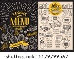 veggie menu for restaurant food ...   Shutterstock .eps vector #1179799567