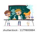 funny little girl doing... | Shutterstock . vector #1179800884