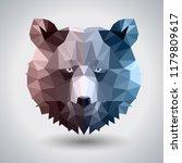 abstract polygonal tirangle... | Shutterstock .eps vector #1179809617