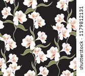 flower seamless pattern with... | Shutterstock .eps vector #1179812131