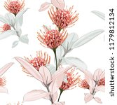 seamless tropical protea... | Shutterstock .eps vector #1179812134