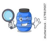 detective cartoon big plastic... | Shutterstock .eps vector #1179819007