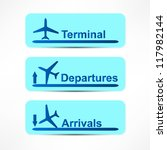 arrival and departures airport... | Shutterstock .eps vector #117982144