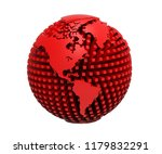 3d rendering of earth isolated... | Shutterstock . vector #1179832291