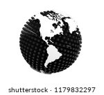3d rendering of earth isolated... | Shutterstock . vector #1179832297