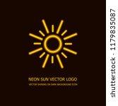 vector neon sun logo template ...
