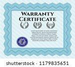 light blue warranty certificate ...   Shutterstock .eps vector #1179835651