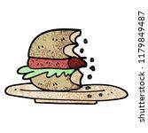 grunge textured illustration... | Shutterstock . vector #1179849487