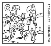 coloring book for children  six ... | Shutterstock .eps vector #1179854821
