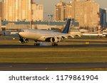 longhaul widebody jet airplane... | Shutterstock . vector #1179861904