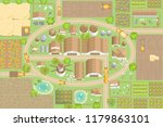 vector illustration. green farm.... | Shutterstock .eps vector #1179863101
