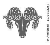 icon aries. symbol argali.... | Shutterstock .eps vector #1179863257