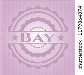 bay retro style pink emblem   Shutterstock .eps vector #1179864874