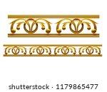 golden  ornamental segment  ... | Shutterstock . vector #1179865477