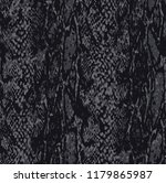 Trendy Dark Grey Snake Skin...