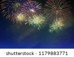 colorful fireworks celebration... | Shutterstock . vector #1179883771