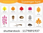 scavenger hunt  autumn walk ... | Shutterstock .eps vector #1179891937