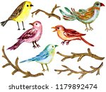 colorful watercolor gouache... | Shutterstock . vector #1179892474