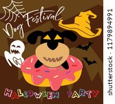 dog   donut festival halloween... | Shutterstock .eps vector #1179894991