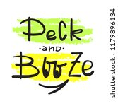 peck and booze   simple inspire ... | Shutterstock .eps vector #1179896134
