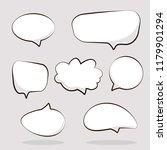 cartoon dialogs cloud. set of... | Shutterstock .eps vector #1179901294