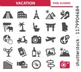 vacation icons. professional ... | Shutterstock .eps vector #1179904684