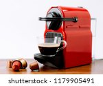 espresso machine making hot... | Shutterstock . vector #1179905491