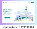 web page design template ...   Shutterstock .eps vector #1179913984