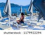 girl dreams in the aegean sea | Shutterstock . vector #1179922294