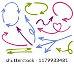 hand drawn diagram arrow icons... | Shutterstock .eps vector #1179933481