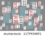 playing cards falling on... | Shutterstock .eps vector #1179934891