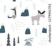 hand drawn seamless pattern... | Shutterstock .eps vector #1179941701