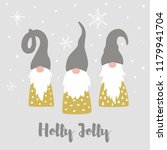 merry christmas card with cute... | Shutterstock .eps vector #1179941704