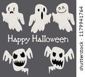 halloween background with...   Shutterstock .eps vector #1179941764