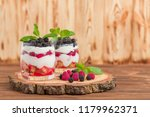 trifle close up photography... | Shutterstock . vector #1179962371