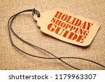 holiday shopping guide sign   a ... | Shutterstock . vector #1179963307