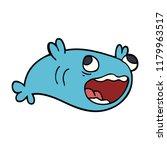 cartoon doodle of a fish | Shutterstock . vector #1179963517